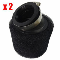 2x 45mm Air Filter For ATV Quad Pit Dirt Bikes Go Kart Scooter Motorcycle Black