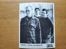 TRUE LOVE ALWAYS Teen Beat 8x10 BLACK & WHITE Press Photo 90's INDIE ALT ROCK
