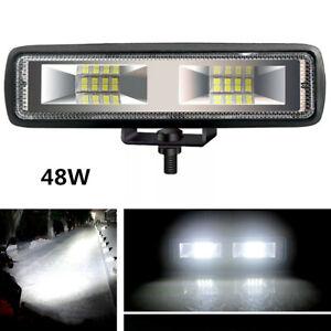 "6"" 48W Car ATV LED Work Light Bar Spot 4WD Offroad Fog  Driving Lamp Bulbs 6000K"