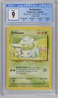 Pokemon Base Set Unlimited 1999-2000 4th Print Bulbasaur 44/102 CGC 9 Mint PSA