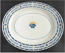 New ListingOval Serving Platter The Etruria (Blue Laurel) by Wedgwood Made in England