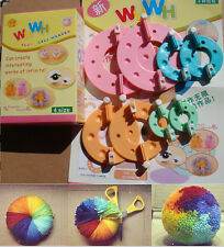 8Pcs 4 Sizes Pompom Maker Fluff Ball Weaver Knitting Crafts Pom-Pom Loom Tool