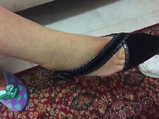 Marc Jacobs Black Suede & Alligator size 7 1/2