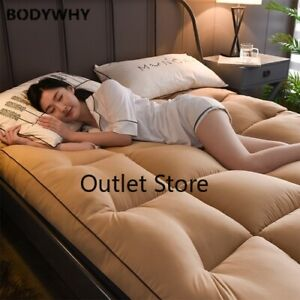 10cm Thick Velvet Mattress Mattress Foldable Tatami Bed Mattress Cotton Pad