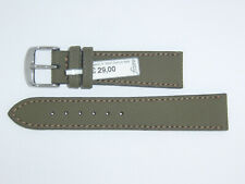 FLUCO Water Resistant Leather Waterproof Band Strap  20 mm Green Khaki Nautilus