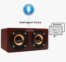 UK Wireless Wooden Bluetooth Speaker Mini Portable Stereo 4.0 technology Speaker
