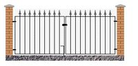 Gader Spear Top Driveway Gates 2134mm to 3658mm GAP x 950mm H Wrought Iron Metal