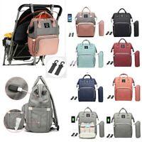 Waterproof Diaper Bag Ergo USB Charging Large Capacity Baby Nursing Backpack