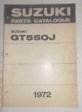 1972 72 SUZUKI GT550J GT 550 J PARTS CATALOG UE SHOP SERVICE REPAIR MANUAL 1st E