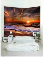 Sea Sunset Scenery Tapestry Room Wall Hanging Art Landscape Print Tapestry Decor