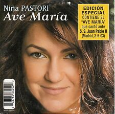 "NIÑA PASTORI ""AVE MARIA"" RARE CD SINGLE SPECIAL EDITION / JOHN PAUL II - LIVE"