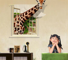 3D Cartoon Giraffe Home Bedroom Decor Removable Wall Stickers Decal Decoration