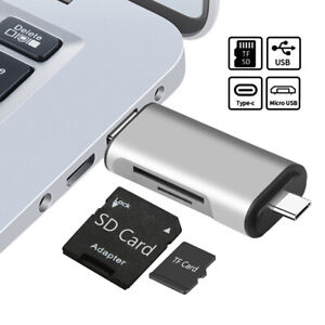 3 In 1 USB Type A 3.0 USB-C Micro TF SD Card Reader OTG Adapter SDXC SDHC MMC 1