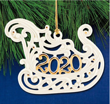 Lenox Christmas A Year To Remember Sleigh Sled Ornament New Dated 2020 890093
