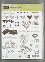 Stampin Up Sealed with Love Photopolymer Stamp Set - Hearts Valentine's Day Kiss