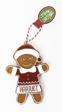 Gingerbread Christmas Tree Hanging Decorations Harriet