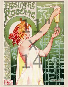 Art Nouveau Print - Absinthe Robette - Vintage Art Print Poster 11x14 inches