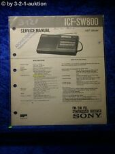 Sony Service Manual ICF SW800 PLL Synthesized Receiver (#3120)