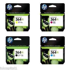 HP No 364XL Multi Pack High Capacity Original OEM Inkjet Cartridges B,C,M & Y