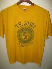 T.W. Josey Comprehensive Public High School August Georgia 1973 Class T Shirt Lg