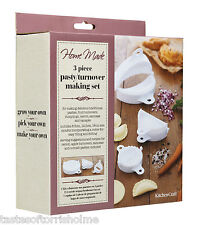 Kitchen Craft Set Of 3 Pasty Shaper / Pastry Turnover Moulds Cutters