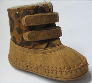 Baby Girl Bootties Warm Leopard Print Boots (aadi-19) INFANT Moccasins