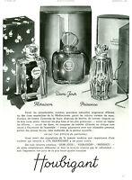 Publicité ancienne parfums Houbigant 1937 issue de magazine