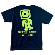 Powell Peralta Skate Like A Man Skateboard T Shirt Navy Medium