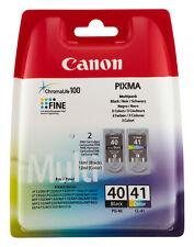 CANON PG40+ CL41 PIXMA MP180 MP190 MP210 MP220 MP450 MP460 MP470 TINTE PATRONE