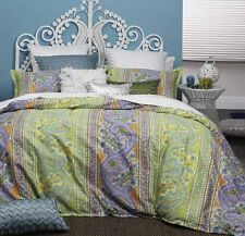 Logan and Mason FRESCO CITRUS Paisley Queen Size Bed Doona Duvet Quilt Cover Set