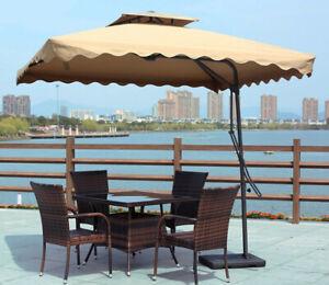 Varossa Large Square Cantilever Outdoor Umbrella (Beige / Tan)