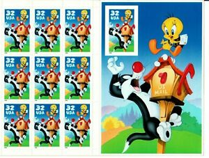 Scott 3205 32¢ Sylvester and Tweety Imperf MNH Free shipping in the USA