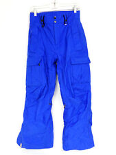 Mens XS 20th Anniversary BONFIRE Snowboard Radiant Pants Classic Fit Blue