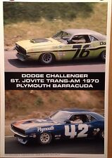 Dodge Challenger/Plymouth Barracuda-St Jovite Trans-Am 1970 Car Poster! Own It!