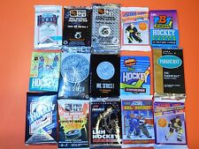 BIG UNOPENED HOCKEY CARD LOT OF 50 WITH FREE GAME JERSEY CARD PACKS 25+ YRS OLD