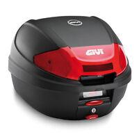 Bauletto nero goffrato comprensivo di piastra e kit universale E300N2 GIVI