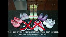Lot of Toddler Girls' Play Shoes Jellies, Land/Water Shoes & Rain Boots=7 PAIR