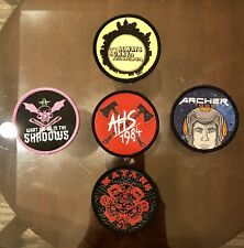 5pc Comic Con San Diego 2019 Fx Exclusive Collectible Patches Include Ahs 1984