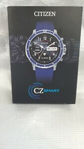 Citizen CZ Smart 46mm Stainless Steel Case with Blue Silicone Strap Smart Watch