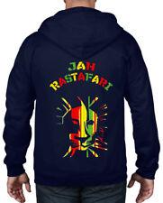 JAH RASTAFARI FULL ZIP HOODIE - Reggae Rasta Lion Of Judah Bob Marley T-Shirt