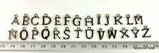 C022 - Alphabet Letter Charms - A to Z pack - Dark Silver - 12x1.5mm 26pce