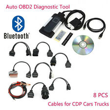 Bluetooth TCS CDP Pro Plus For Autocom OBD2 Diagnostic Car Truck Tool+8pc Cables