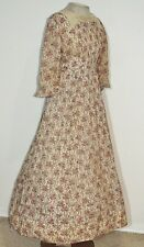 Victorian Mid  1800's Printed Cotton Dress w Fichu SM / From D.A.R.
