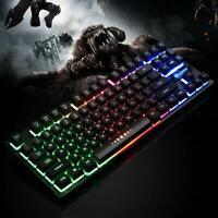 K87 USB Wired 87 Keys Mechanical Feeling RGB Backlight PC Gaming Keyboard 5V