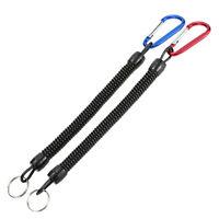 1x Canotaje Kayak Pesca segura pinzas apretones de labio Tackle cuerda cordón G2
