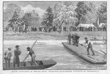 Twickenham angolazione TOURNAMENT a Orlenas Casa-stampa antica 1886