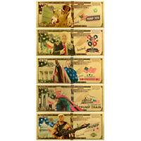 5pcs Donald Trump $2020 Dollar Gold Banknote Keep America Great Bill Note