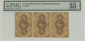 First Issue 5 Cent Fractional Currency FR#1230 PMG 55 About Unc NET