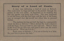 CI43.Vintage Comic Card. Story of a load of coals.