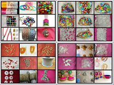 60pcs Silk Thread Jewelry making,rounds,Jhumka base,bangles,kundans, Big Pack